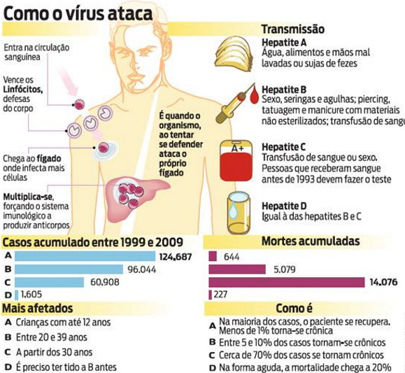 hepatite como o vírus ataca