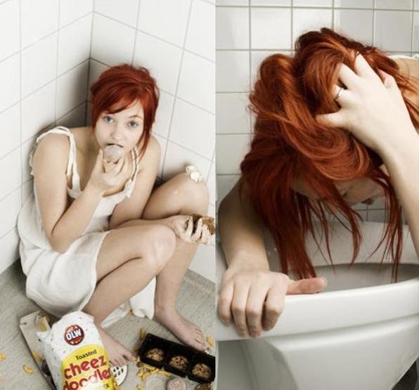 visualizar própria imagem distorcida interrupção da menstruação por 3 ou mais ciclos idas frequentes ao banheiro após as refeições